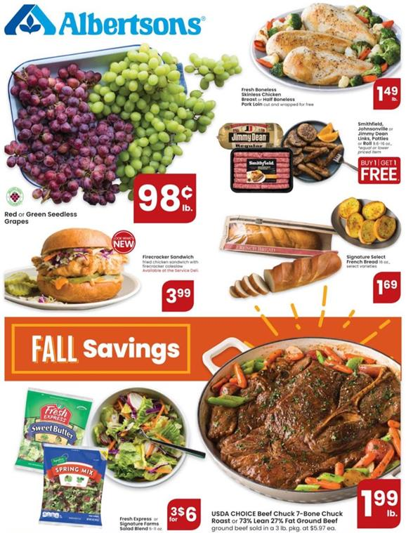 Albertsons Weekly Ad Preview Oct 7 - 13, 2020