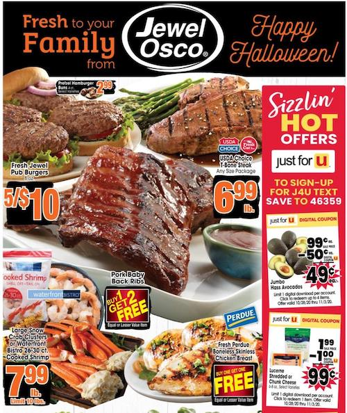 Jewel-Osco Ad Oct 28 - Nov 3, 2020