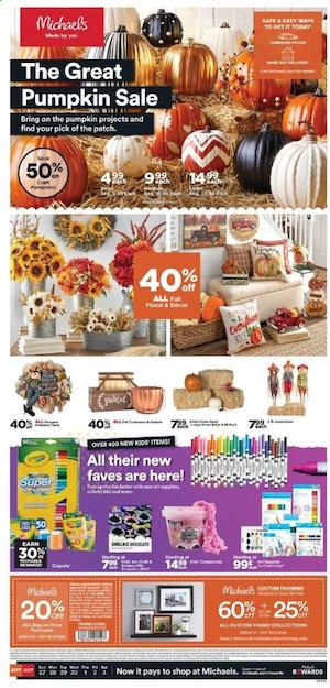 Michaels Halloween Deals and Great Pumpkin Sale