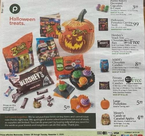 Publix Weekly Ad Oct 28 - Nov 3, 2020