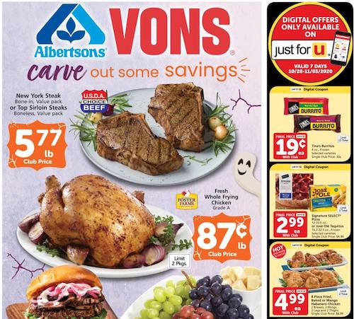 Vons Weekly Ad Oct 28 - Nov 3, 2020