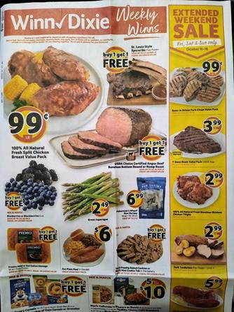 Winn Dixie Weekly Ad Preview Oct 14 - 20, 2020