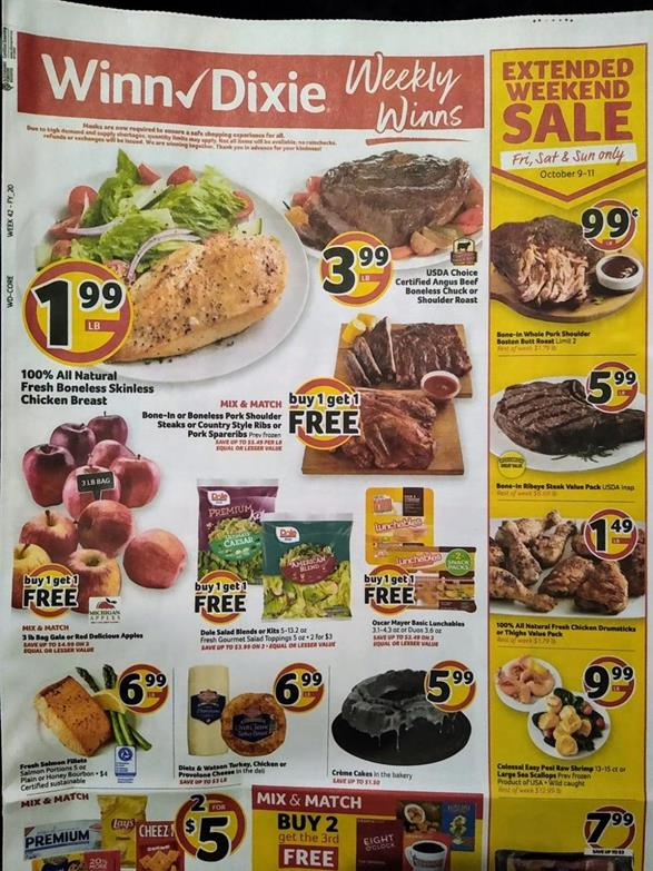 Winn Dixie Weekly Ad Preview Oct 7 13 2020
