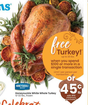 Albertsons Turkey Deal 2020