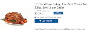 Food Lion Turkey Deal Online