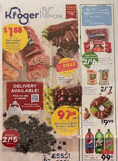 Kroger Weekly Ad Preview Nov 27 - Dec 1, 2020