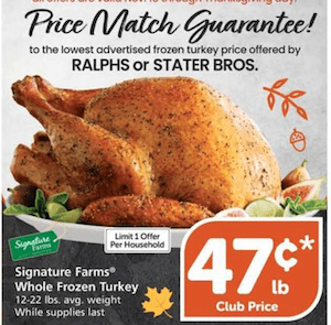 Vons Turkey deal 2020