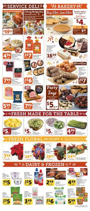 Vons Weekly Ad Thanksgiving Nov 18 - 26, 2020