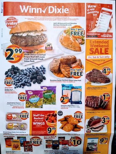 Winn Dixie Weekly Ad Preview Nov 27 - Dec 1, 2020