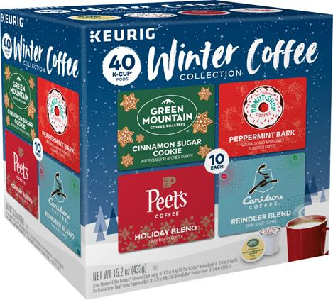 Keurig - Winter Coffee Collection Variety Pack K-Cup Pods (40-Pack)