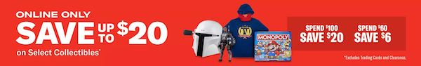 Gamestop Collectible Items Online Only Sale result