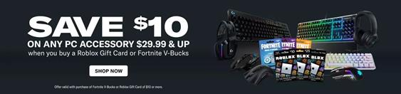 Save $10 on PC Accessories at Gamestop