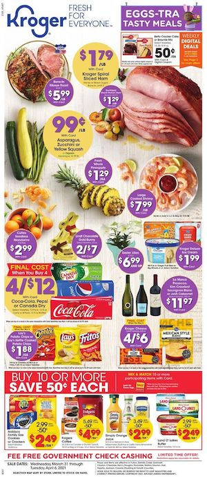 Kroger Weekly Ad Mar 31 - Apr 6, 2021