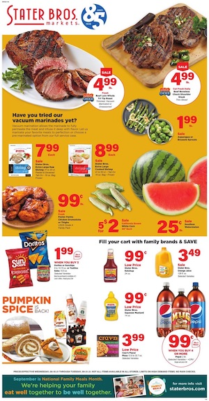 Stater Bros Ad Sep 15 - 21, 2021