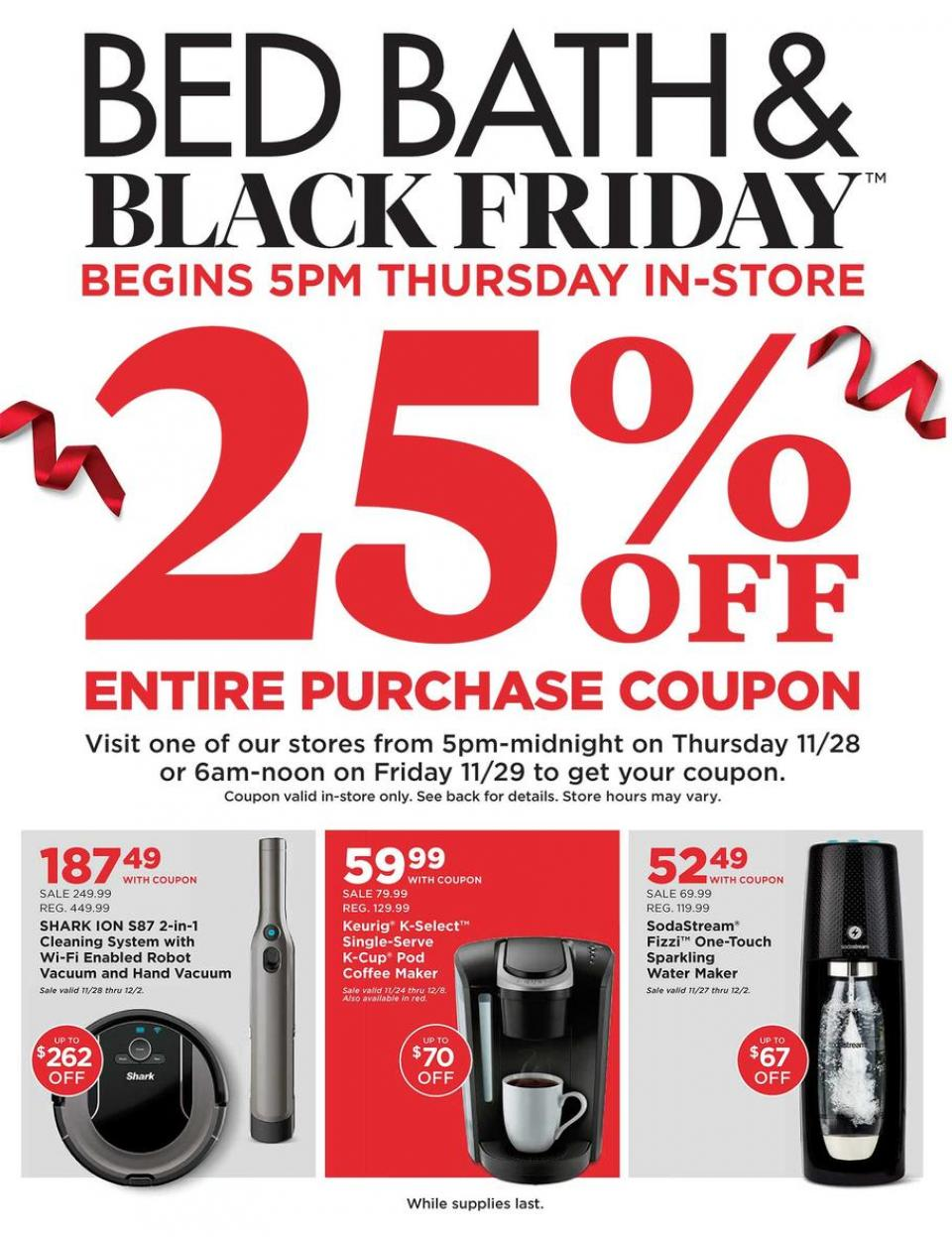 Bed and Bath black friday ad