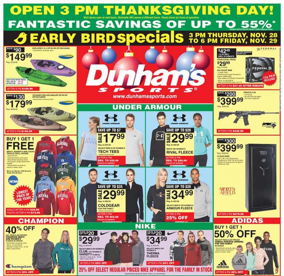 Dunham's Sports black friday ad