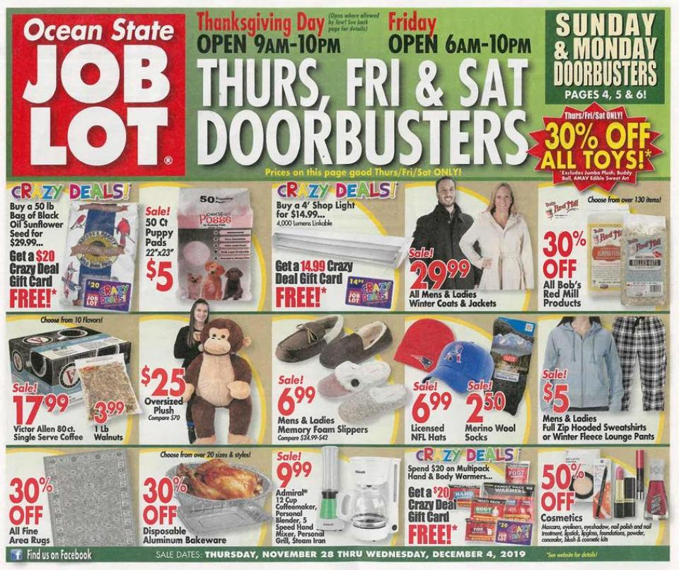 Ocean State black friday ad